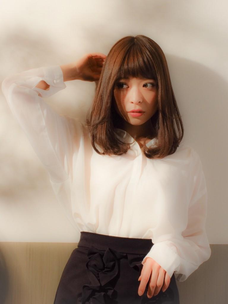 大人女子のための上品ワンカールロブ武蔵小杉 美容室MOONヘアースタイル写真