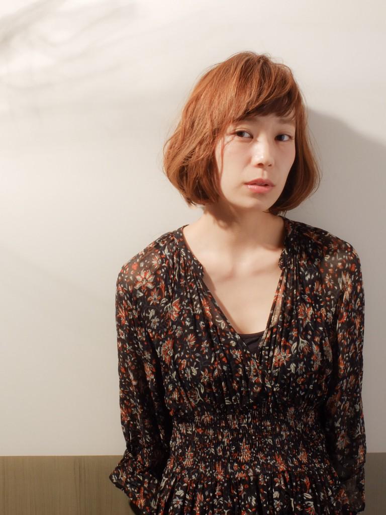 ラフさと艶感が可愛い☆小顔ボブ武蔵小杉 美容室MOONヘアースタイル写真