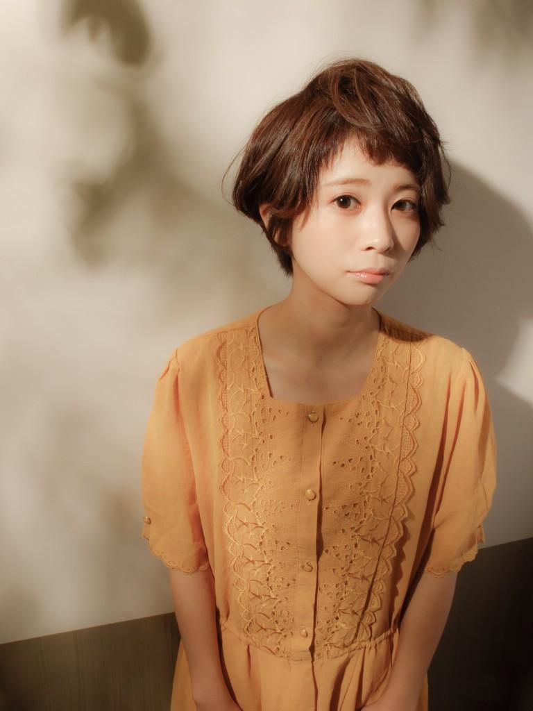 ふんわりショート武蔵小杉 美容室MOONヘアースタイル写真