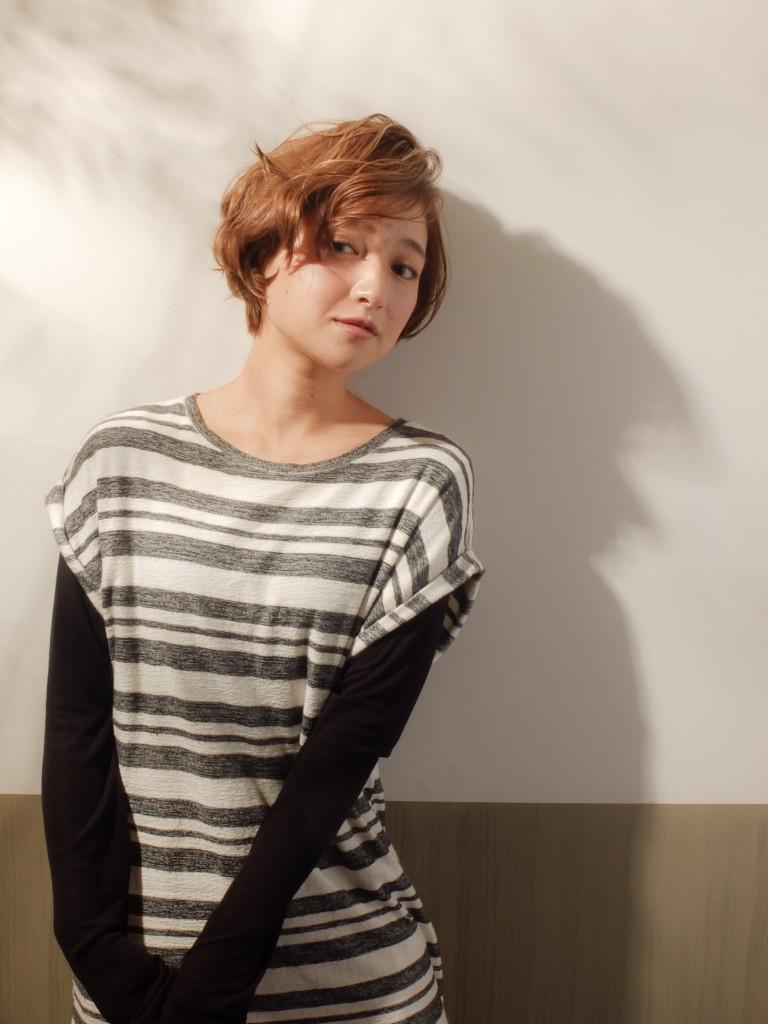 大人かわいい♪小顔マッシュショート武蔵小杉 美容室MOONヘアースタイル写真