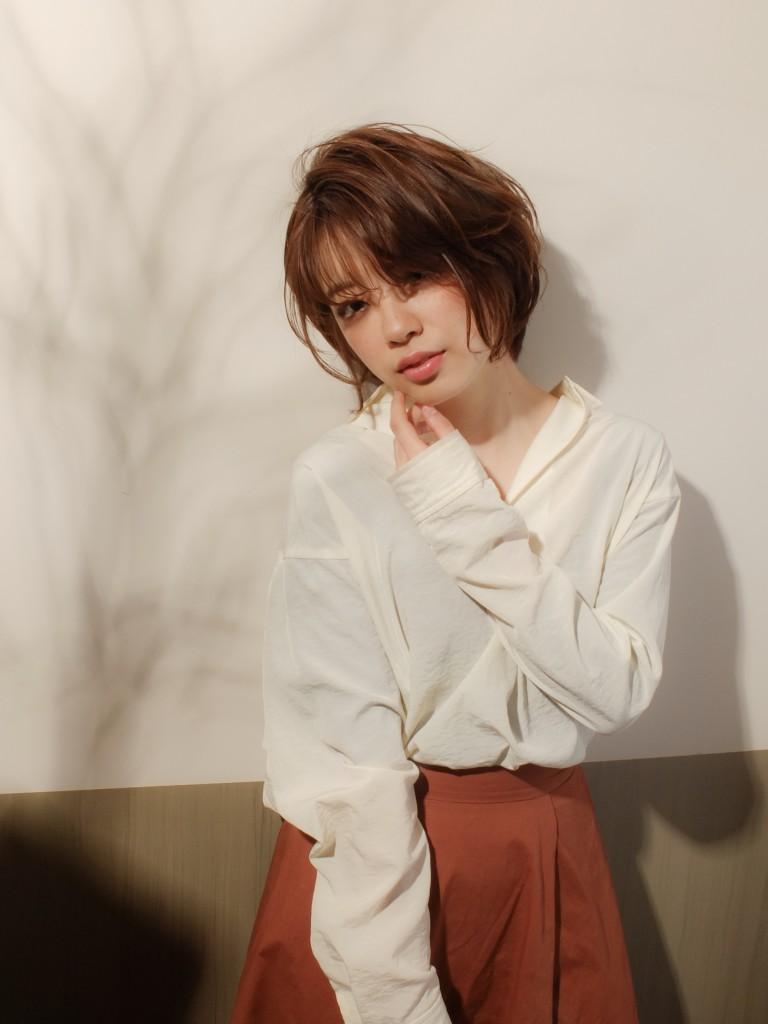 大人かわいい こなれショートスタイル武蔵小杉 美容室MOONヘアースタイル写真