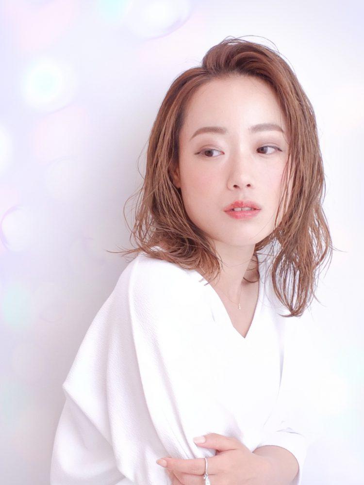 艶髪☆軽やかミディ外はねシースルーボブ【武蔵小杉】2 -武蔵小杉 美容室MOONヘアースタイル写真