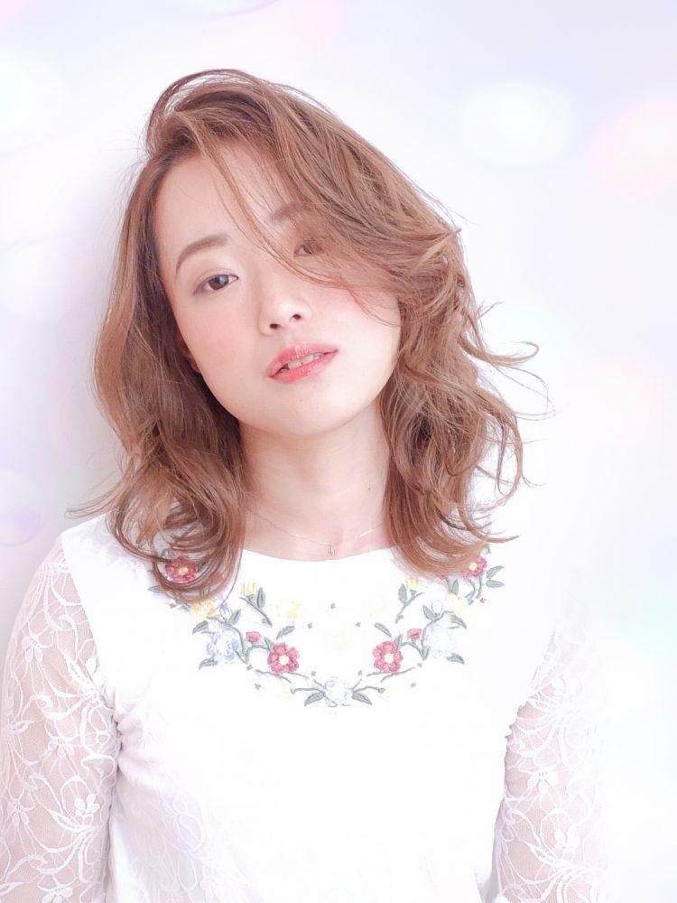 大人かわいい☆外国人みたいなくせ毛風エアリー大人ボブ♪1 -武蔵小杉 美容室MOONヘアースタイル写真