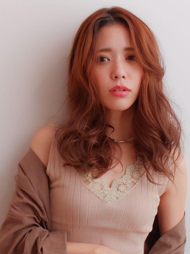 センターパート☆大人かっこいいロングスタイル1 -武蔵小杉 美容室MOONヘアースタイル写真