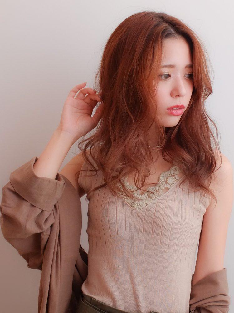 センターパート☆大人かっこいいロングスタイル2 -武蔵小杉 美容室MOONヘアースタイル写真