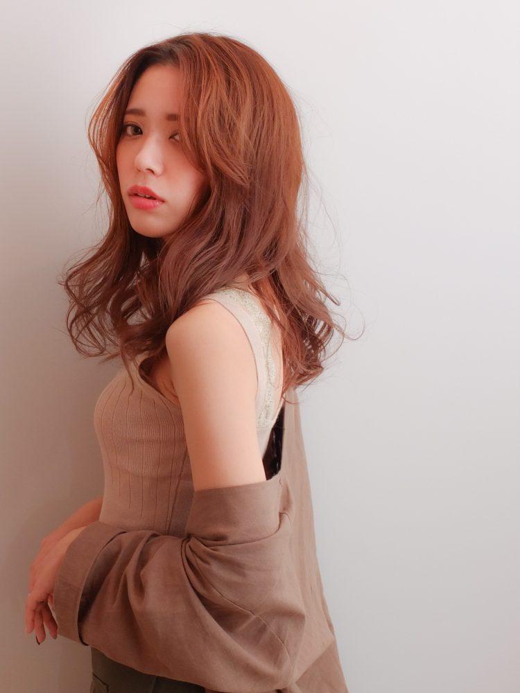 センターパート☆大人かっこいいロングスタイル3 -武蔵小杉 美容室MOONヘアースタイル写真