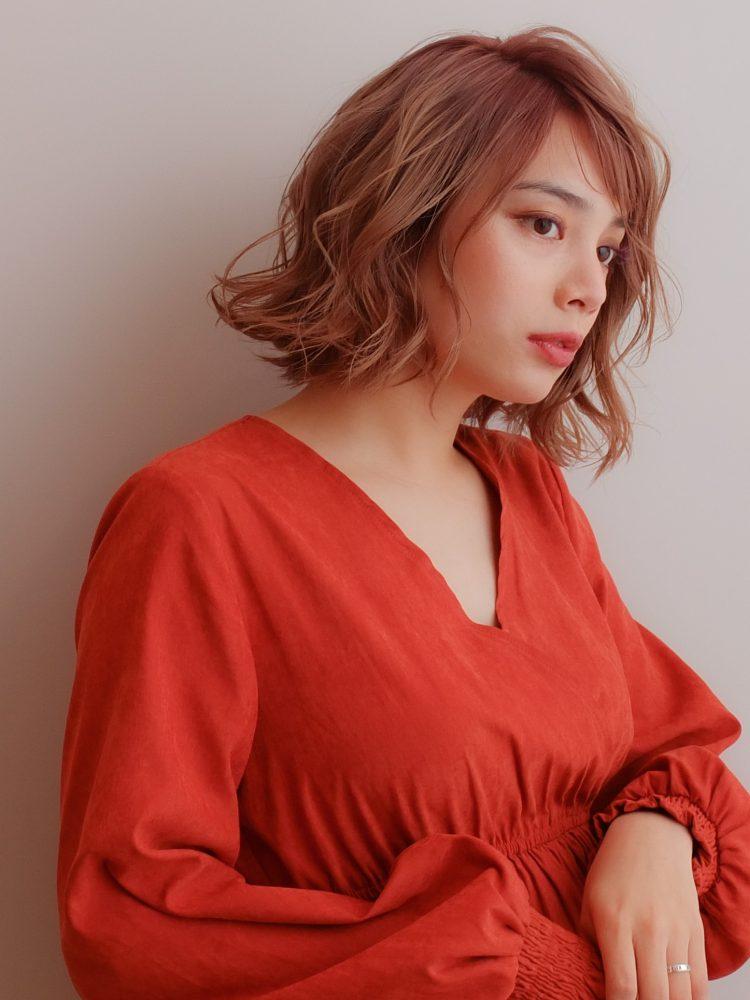 外国人風ボブパーマ ハイライトバレイヤージュ♪3 -武蔵小杉 美容室MOONヘアースタイル写真
