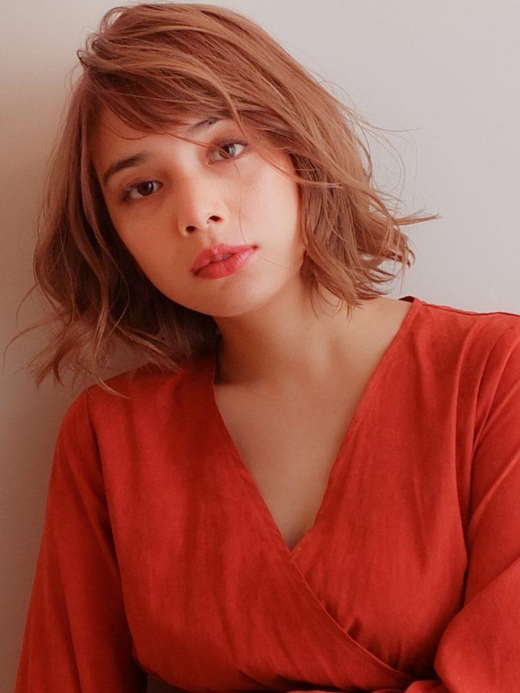 外国人風ボブパーマ ハイライトバレイヤージュ♪1 -武蔵小杉 美容室MOONヘアースタイル写真