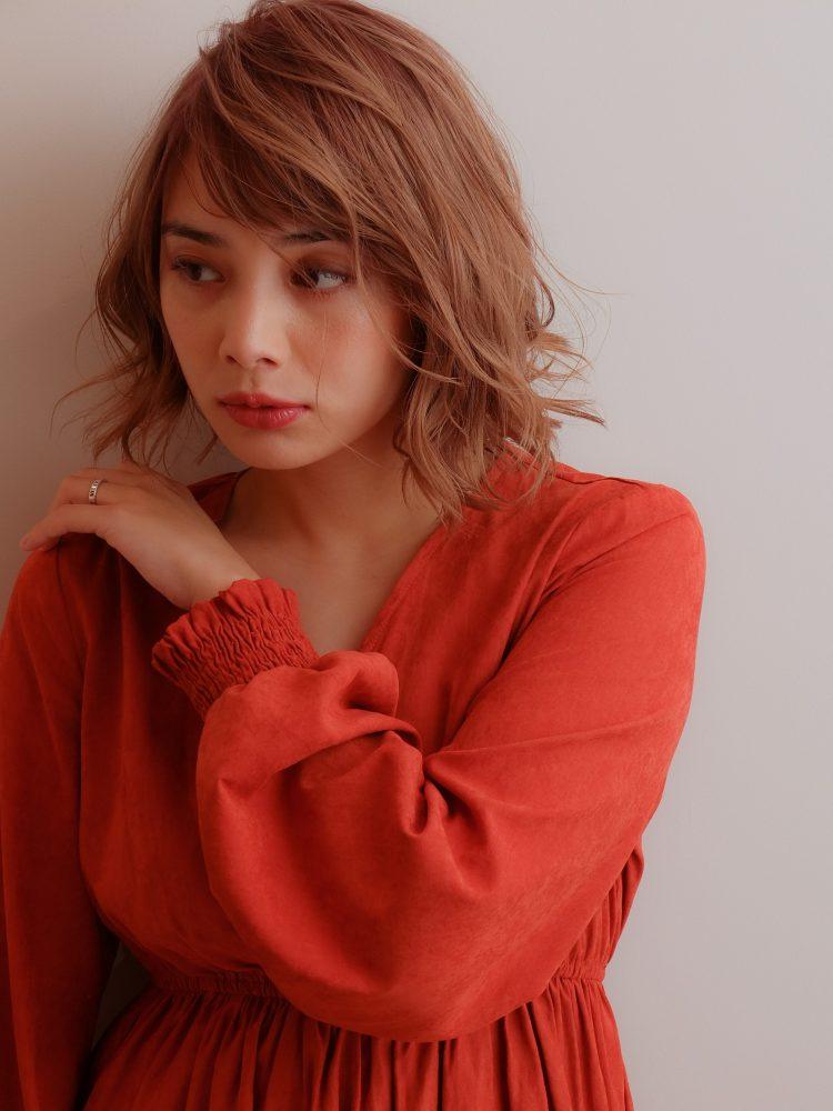 外国人風ボブパーマ ハイライトバレイヤージュ♪2 -武蔵小杉 美容室MOONヘアースタイル写真
