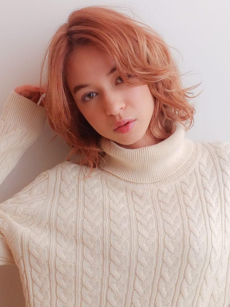 アンニュイ香る大人ウルフレイヤー♪シアーカラーシアーベージュ1 -武蔵小杉 美容室MOONヘアースタイル写真