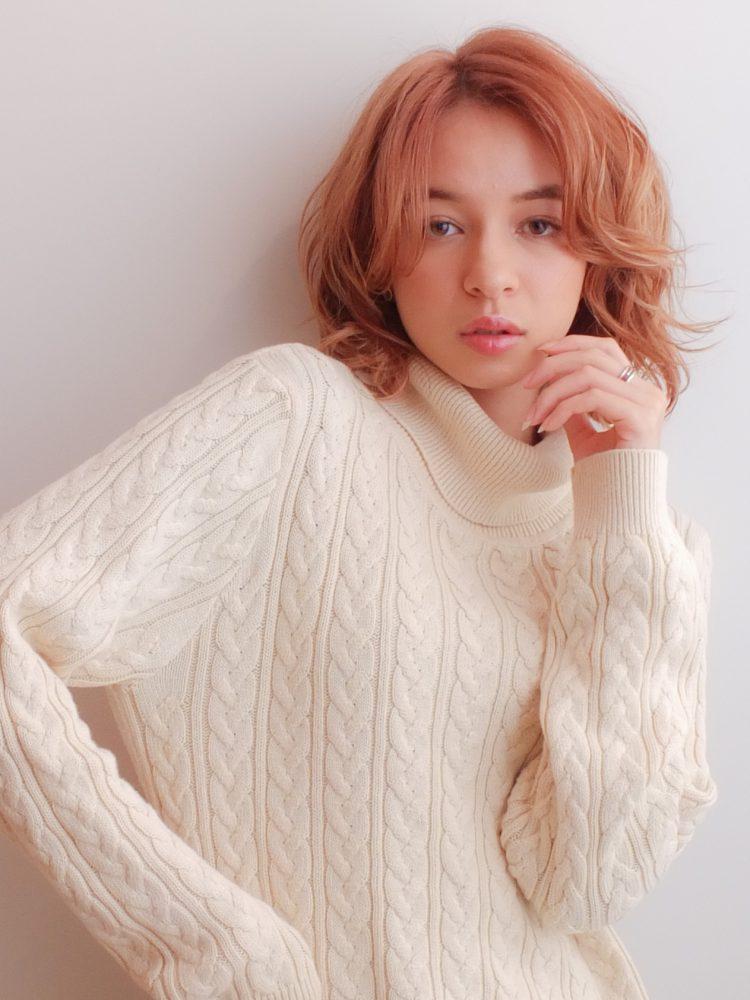 アンニュイ香る大人ウルフレイヤー♪シアーカラーシアーベージュ3 -武蔵小杉 美容室MOONヘアースタイル写真