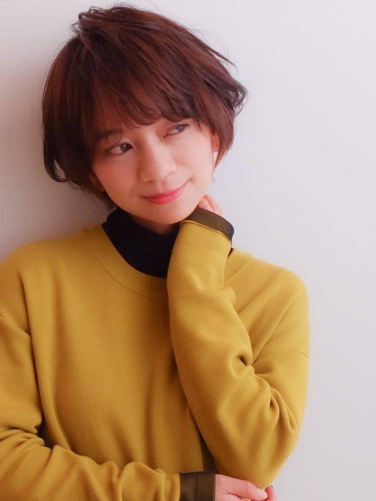 ダークカラーが際立つツヤ髪大人ショートボブ/イルミナカラー武蔵小杉 美容室MOONヘアースタイル写真