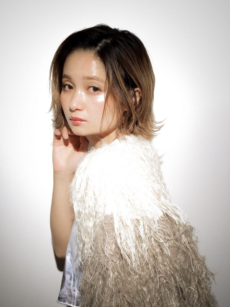シーンによって変身できる切りっぱなしカジュアルボブ3 -武蔵小杉 美容室MOONヘアースタイル写真