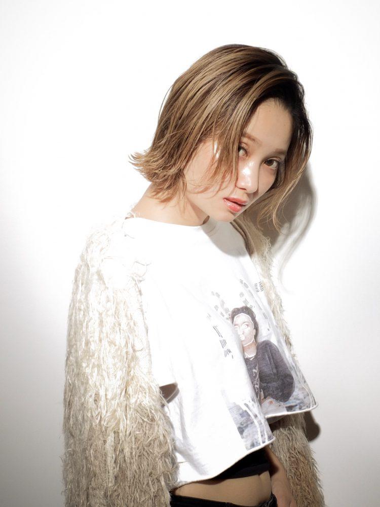 シーンによって変身できる切りっぱなしカジュアルボブ2 -武蔵小杉 美容室MOONヘアースタイル写真