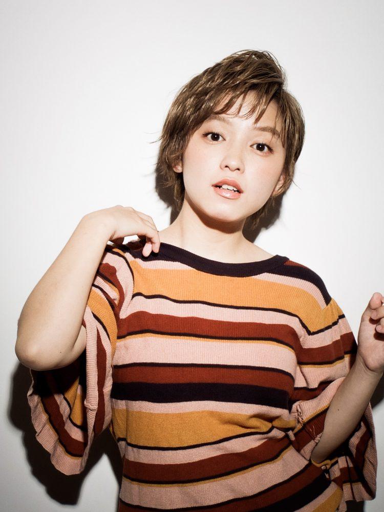 小顔キュート ショートボブ武蔵小杉 美容室MOONヘアースタイル写真