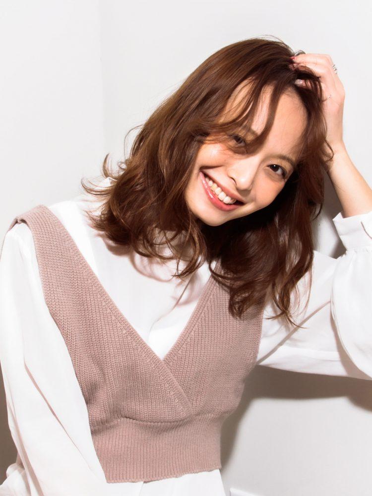 モテ髪♪透明感のあるゆるふわひし形カールスタイル2 -武蔵小杉 美容室MOONヘアースタイル写真