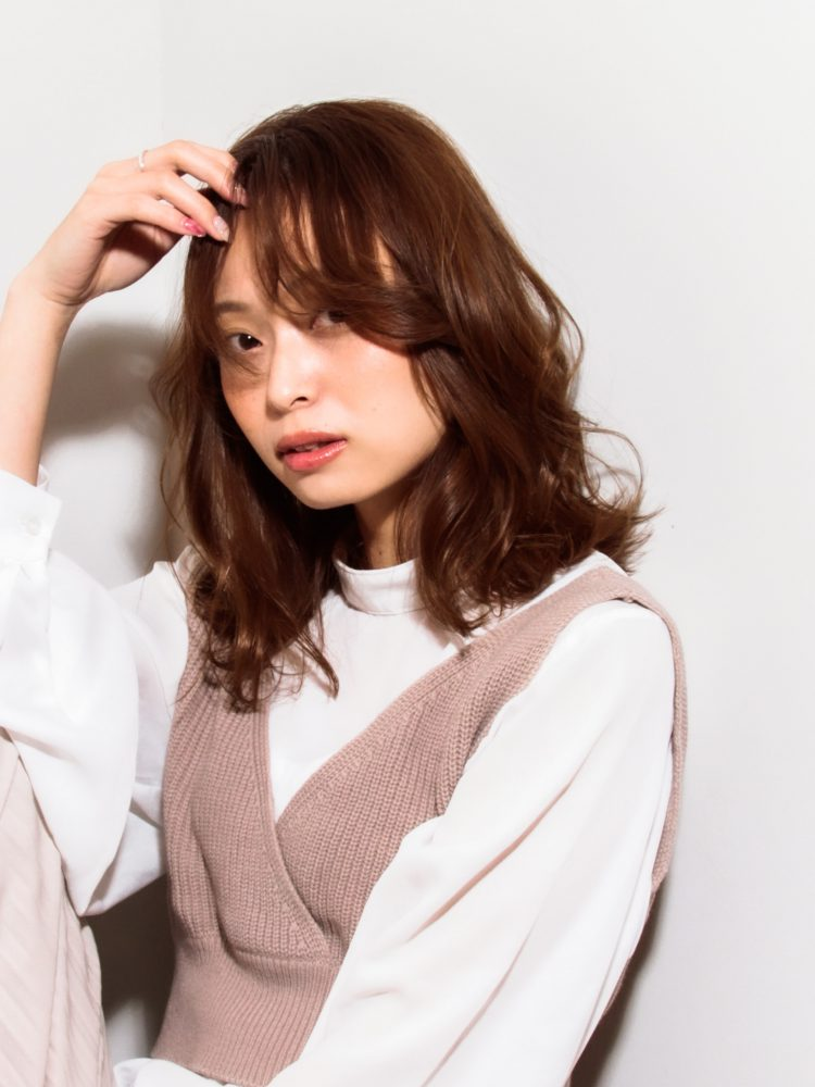 モテ髪♪透明感のあるゆるふわひし形カールスタイル3 -武蔵小杉 美容室MOONヘアースタイル写真
