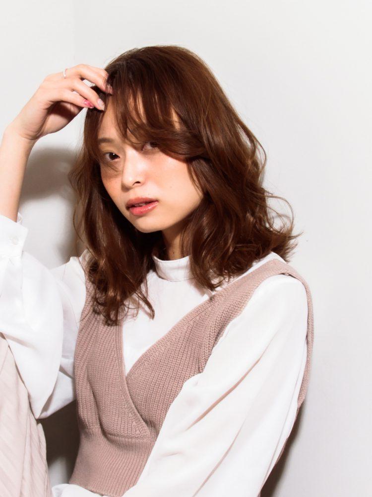 大人かわいいルーズウェーブスタイル2 -武蔵小杉 美容室MOONヘアースタイル写真