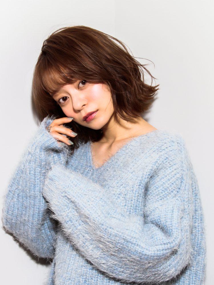 大人かわいい☆外国人みたいなくせ毛風エアリー大人ボブ♪3 -武蔵小杉 美容室MOONヘアースタイル写真