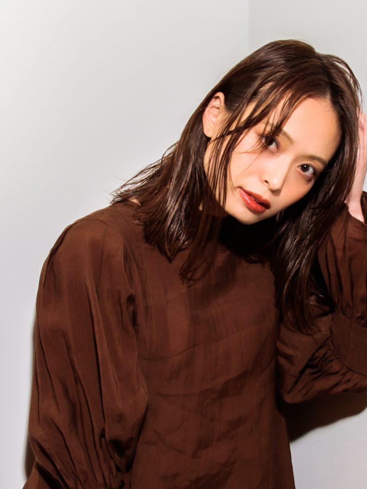 艶髪☆軽やかミディ外はねシースルーボブ2 -武蔵小杉 美容室MOONヘアースタイル写真