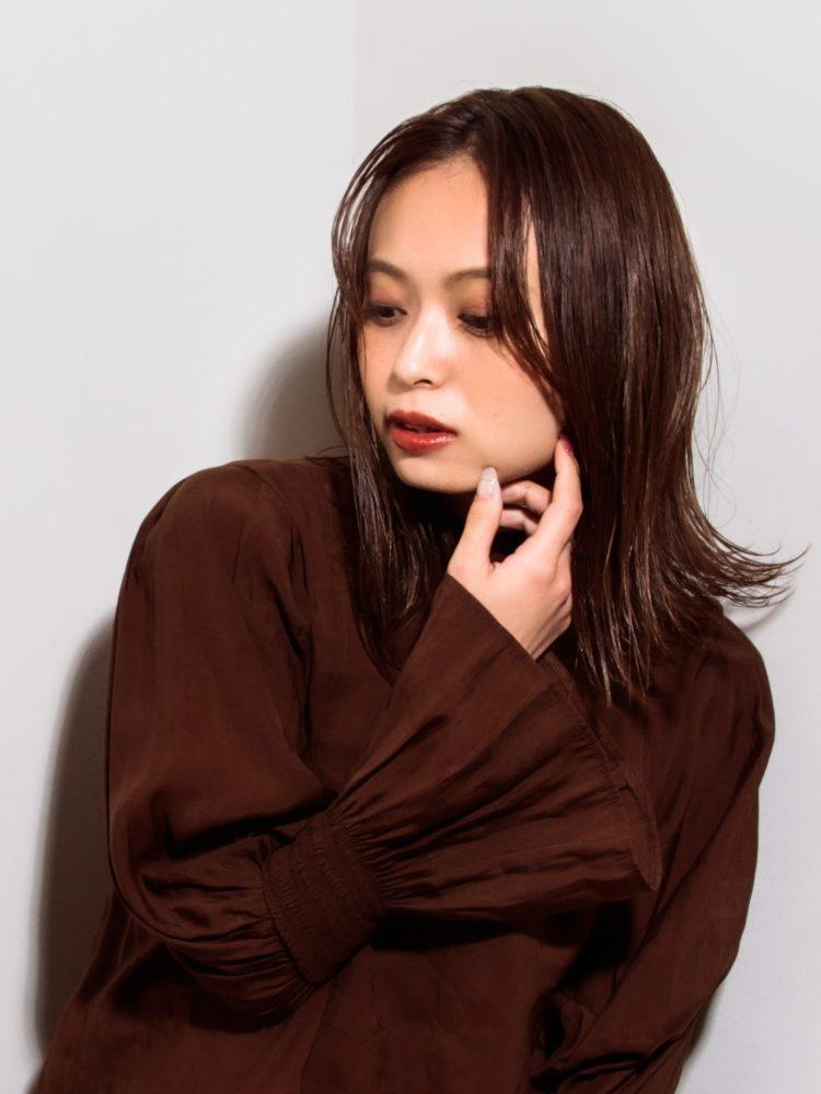 艶髪☆軽やかミディ外はねシースルーボブ3 -武蔵小杉 美容室MOONヘアースタイル写真