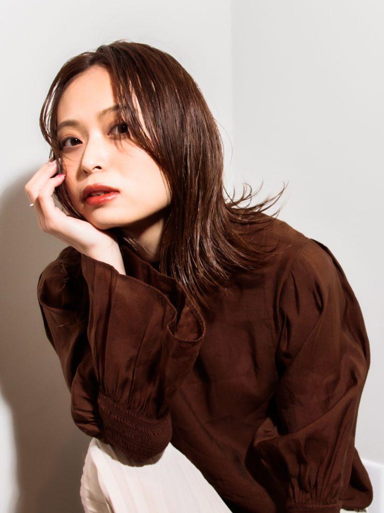 艶髪☆軽やかミディ外はねシースルーボブ1 -武蔵小杉 美容室MOONヘアースタイル写真